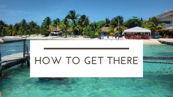 how to get to the island from Cancun