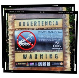 Signs warning in Cancun