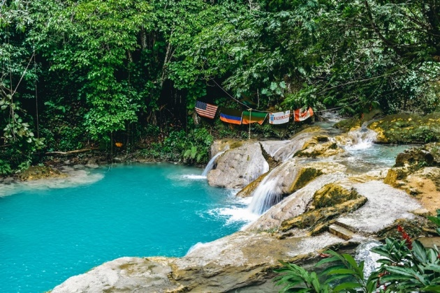 A visit to Blue Hole is one of the best to do in Ocho Rios in Jamaica because it is an unspoiled natural emerald lagoon with pristine waterfall. It is also an ideal spot for swimming.