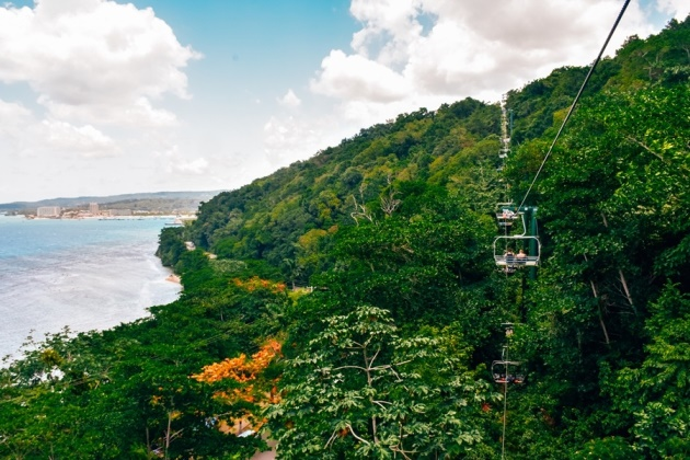 a chairlift ride to Mystic Mountain is one of the best things to do in Ocho Rios because it is the best way to view town and a lush Jamaican rainforest.