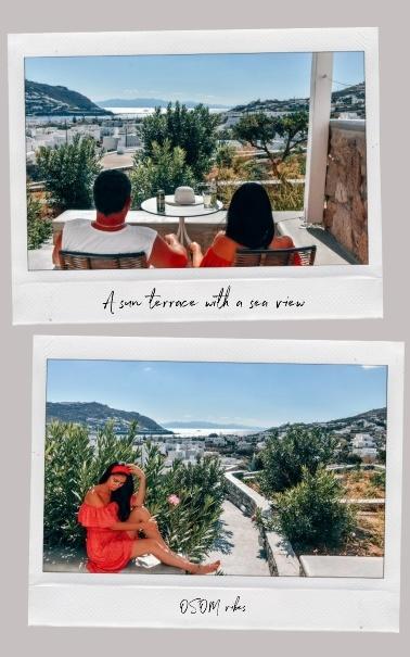 OSOM resort Mykonos outside space