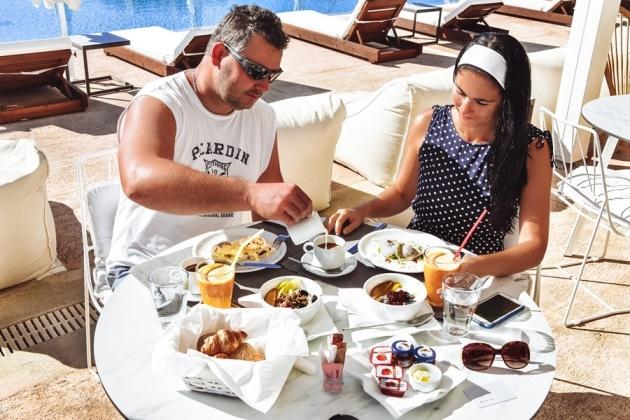 OSOM Resort breakfast Mykonos