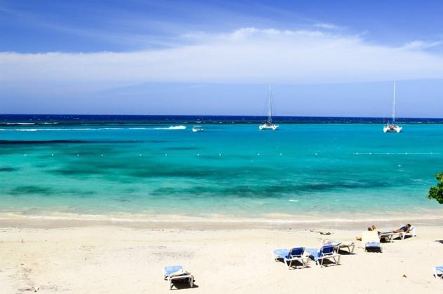 Beach at Riu Ocho Rios, Jamaica