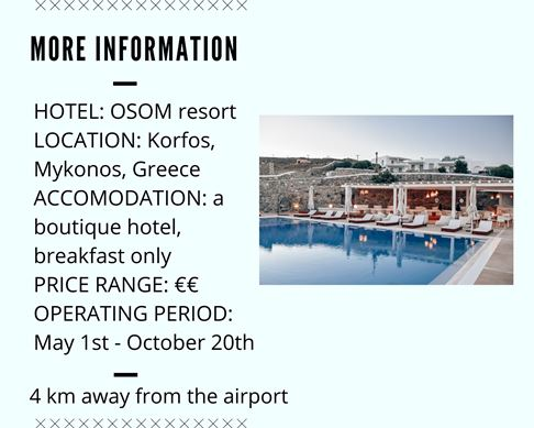additional information about hotel in Mykonos