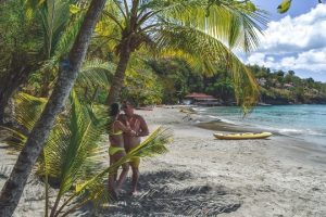 beaches in St Lucia: Drive 35 minutes south of busy Marigot Bay, and you will hit the secluded Anse Cochon, nestled along the cliffside. This is certainly one of the most beautiful beaches in Saint Lucia and must-see atraction on the island.