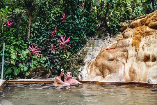 unique things to do in Saint Lucia: A peaceful 10-minute walk down to the mineral baths brings you to warm pools with different temperatures of water. Jerusalem Mineral Baths in Saint Lucia are an excellent place to appreciate nature and seek serenity. Therefore, it`s one of the best things to do in Saint Lucia, it is very unique place.
