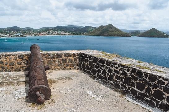 Pigeon island, Rodney Bay in Saint Lucia