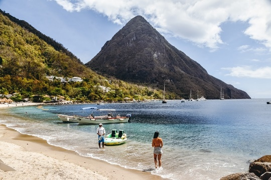 best things to do in Saint Lucia: No trip to Saint Lucia would be complete without a visit to the most famous beach – Sugar beach, also known Jalousie beach. A powdery white sand beach, nestled between two Pitons, offers phenomenal views. Sugar beach, the most famous beach on the island, can be accessed via the Sugar Beach Viceroy resort entrance.