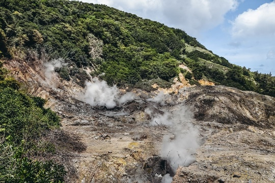 things to do in Saint Lucia: One of the best things to do in Saint Lucia is definitely paying a visit to the Sulphur Spring Park, because it is the most active and hottest geothermal area in the Lesser Antilles. Soufriere Volcano, which collapsed more than 40,000 years ago, now produces only bubbling, steaming mud that can reach temperatures of 170 °C (338 °F).