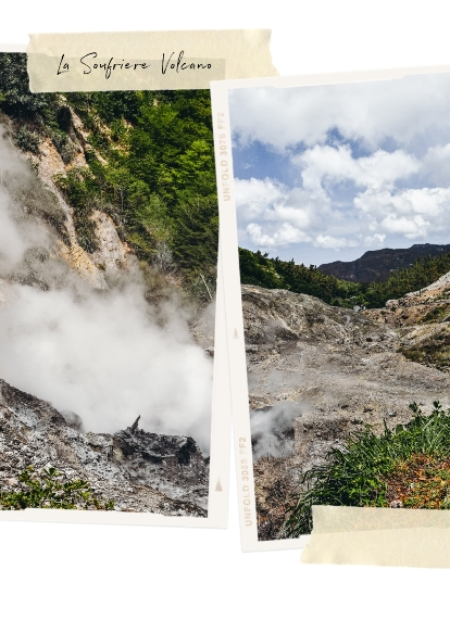 Sulphur Springs active volcano St Lucia