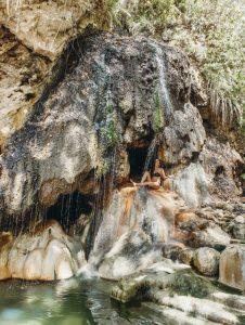 unique Piton waterfall