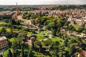 Vatican gardens view