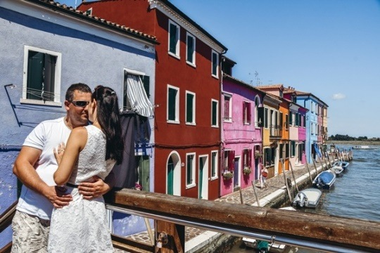 Burano: stroll across three wooden bridges for some of the most picturesque views of Burano's boat-filled canals.