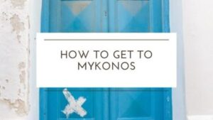 How to get to Mykonos island