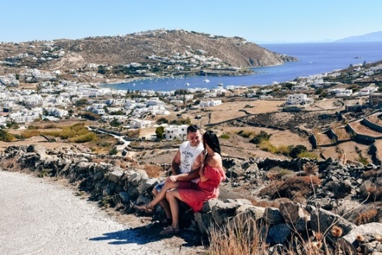 what to do in Mykonos:  Visiting Ornos is is one of the best what to do in Mykonos island, because it is known for its authentic taste and beautiful scenery.