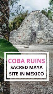 visiting Coba Maya ruins on a day trip from Cancun or Riviera Maya