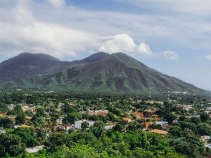 Margarita island Venezuela- views from Santa Rosa: Positioned at the top of a hill, the fort of Santa Rosa provides beautiful panoramic views. The fort overlooking the mountains and red-tiled houses is, without doubt, one of the best attractions on Isla Margarita in Venezuela.