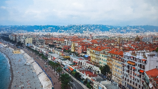 things to do in Nice in France: The world-famous promenade des Anglais is a must-see attraction in Nice, because it has absolutely everything to offer its visitors. With stunning views of the azure coastline and luxurious cafes, the boardwalk is packed with people taking a stroll. More active souls can hire a Segway or cycle along the promenade to explore the 7 km (5 miles) long glorious coastline.