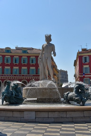 place Masssena fountain, one of the top attractions of the city