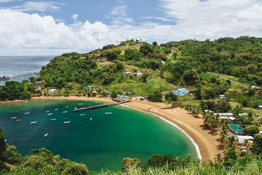 things to do in Tobago: visiting Parlatuvier Bay should be on your Tobago bucket list, because this picturesque bay is a perfect blend of natural beauty and tranquility.