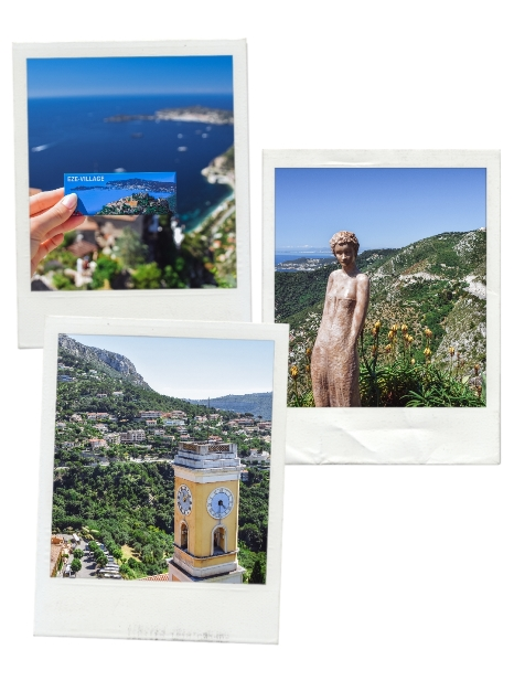 places to visit on the French Riviera: Exotic gardens in Eze are one of the best attractions on the French Riviera beacuse they have breathtakingly beautiful panoramic views of the red roof tile houses and the sparkling Mediterranean Sea in the background. They are situated at the top of the medieval ruins of the castle. An impressive collection of cactus, plants, and other vegetation cascading towards the Mediterranean can be found here.