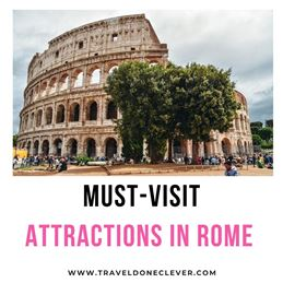 Epic attractions in Rome (Fontana di Trevi, Colosseum and unique places missed by crowds.