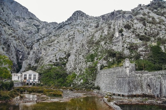 Kotor`s city walls