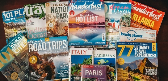 how to fuel your wanderlust when you can`t travel: Read travel magazines and travel books to inspire you wanderlust. Those valuable travel information can help you plan your adventures from the comfort of your home.