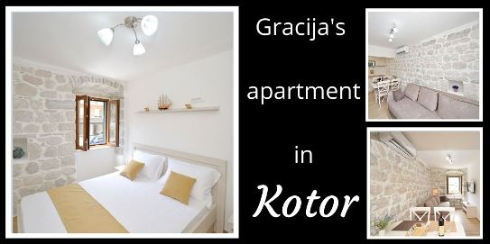 where to stay when in Kotor: the Gracija`s apartment