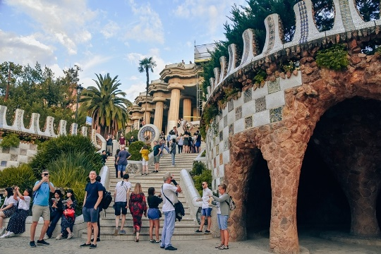 Antoni Gaudi`s Park Guell in Barcelona: Most of the park is free to visit. The part with Gaudi's work has an entrance fee, though. It is important to note that the Monumental Zone with is the most popular attractions in Barcelona. Therefore, it is worth getting a ticket.