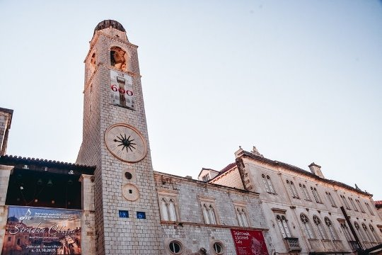 what to see in Dubrovnik: The Clock Tower is one of top attractions in Dubrovnik because it is an ellegant bell tower near popular Sponza Palace.
