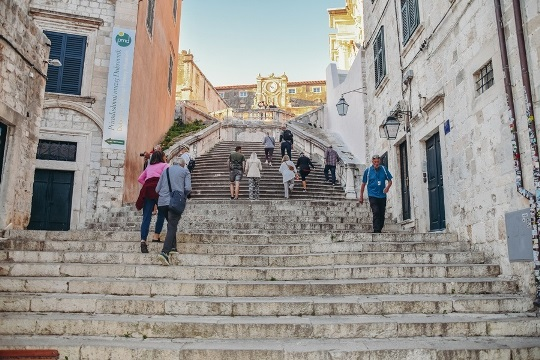 The Jesuit staircase is located just off Gunduliceva. This elegant stairs to the church of Saint Ignatius offer stunning views of the Old Town.
