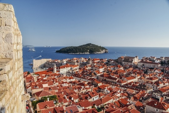 things to do in Dubrovnik: Lokrum, island opposite of Dubrovnik is one of the top attractions in Dubrovnik because the island is peaceful and is an excellent place to relax. Lokrum Island is also home to the medieval Benedectine Monastery.