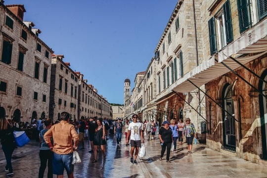 Walk along Stradun is a must when in Dubrovnik because many historical sights are along the Stradum.
