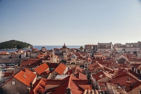 views over the terracotta rooftops, Croatia