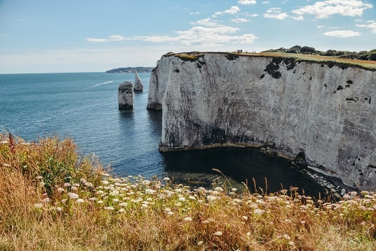 Day out in Dorset: A walk to the massive Old Harry Rocks is an amazing day out in Dorset because this beautiful rock formation formed millions of years ago and is also a UNESCO World Heritage Site. A circulr walk to Old Harry Rocks is open all year round and is worth visiting no matter the season.