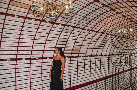 """Banska Stiavnica: Romantic escape to Banska Stiavnica """"a New Verona"""". Today, a house where Maria lived is also known as the """"Epicentre of Love"""". A museum dedicated to an exhibition inspired by the love poem Marina is, besides, globally unique. Here, you can find the Love Banks – the first safe in a world where couples can store their love. With 100,000 Love boxes, Banska Stiavnica has become a new Verona. There are many unique attractions in Marina`s house, such as a """"love-o-meter"""" measuring the strength of couples love."""
