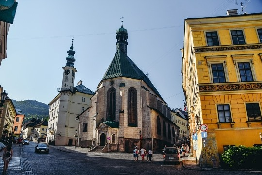 Banska Stiavnica things to do: Church of St Catherine is a popular tourist attraction in Banska Stiavnica because this late Gothic church has a beautiful architecture and you can see the precious painting of the Last Judgment here.