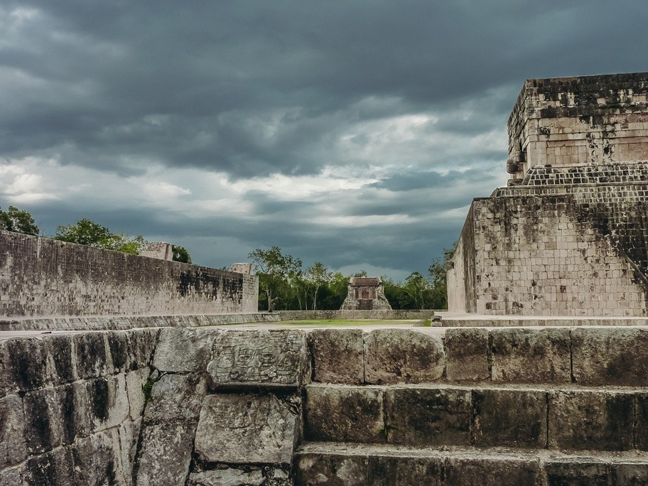 Great Ball Court is top attractions in Chichen Itza because it is the largest ball court every discovered. The Great Ball Court is 166 metres long and 68 metres wide.