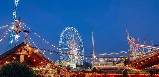 Christmas in London: The annual festival with funfair rides, ice-skating, and many food and drink stalls, is one of the best places where you can experience Christmas in London.