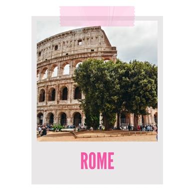 Rome banner weekend getaway