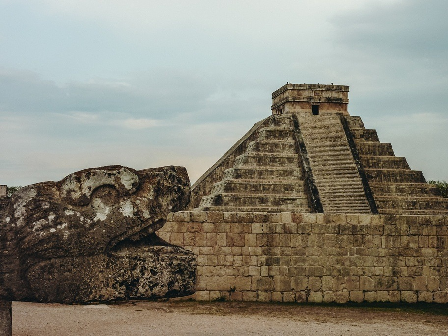 The Kukulkan pyramid is a top attractions in Chichen Itza in Mexico because this unique pyramid has many secrets. Further excavations revealed that this impressive pyramid sits atop of two older pyramid temples.