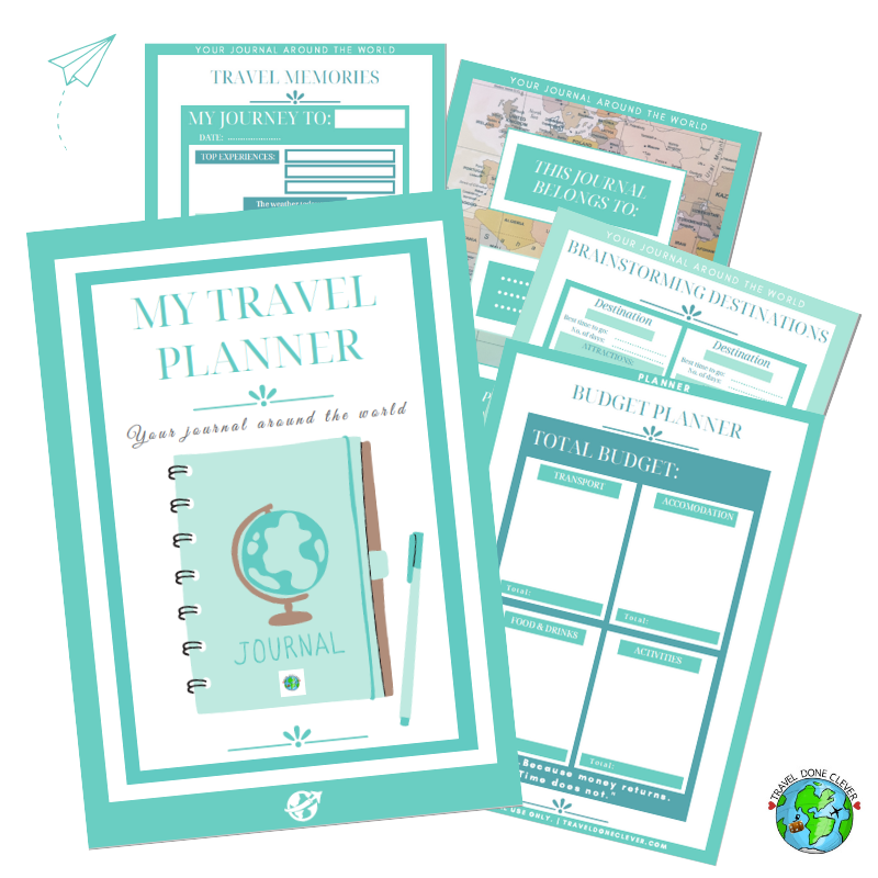 printable PDF free travel planner