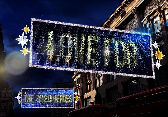 Oxford street decorations 2020