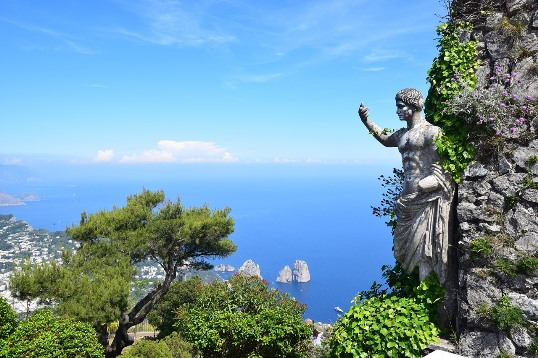 No trip to Capri island is complete without a visit to Monte Solaro. A visit to Monte Solaro is undoubtedly one of the best things to do in Capri because this stunning viewpoint offers unforgettable bird's-eyes views of the island.