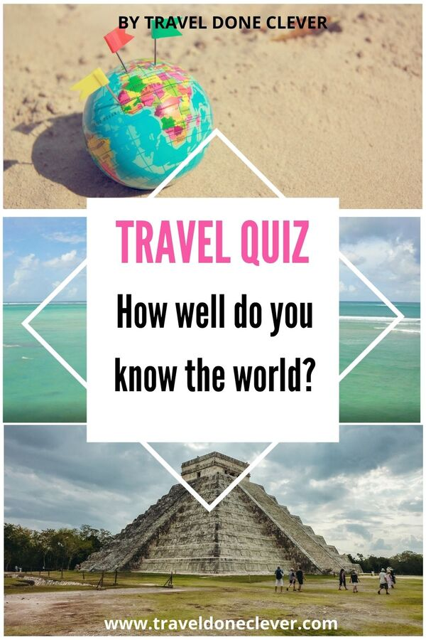 Travel around the world quiz (20 Trivia questions)