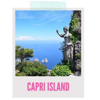 weekend getaway to Capri Island clear and chic