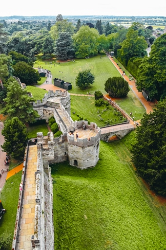 Warwick castle tower views