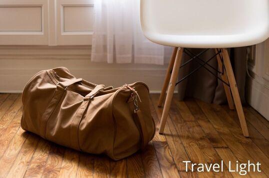 pack light - travel light