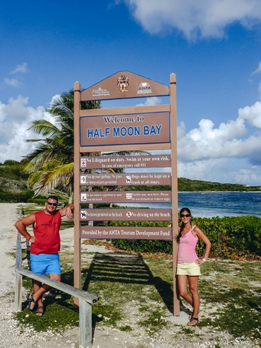 Half Moon Bay on the south-eastern part of the island has white sandy beach with turquoise waters. It is a more off-the-beaten-path location on the Atlantic side of Antigua.